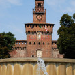 Sforza castle, Milan — Stock Photo