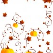 Leaves and pumpkins - Stock Photo