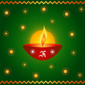 Diwali lamp — Stock Photo