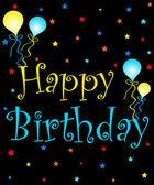 Birthday greetings — Stock Photo