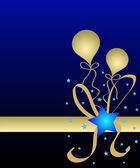 Balloons and stars — Stock Photo