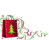Noel alışveriş çantası — Stok fotoğraf