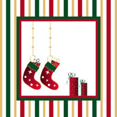 Stockings and gifts — Stock Photo