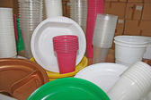 Plastic dish-ware — Stock Photo