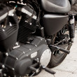 Detail Black Motorcycle - Foto Stock
