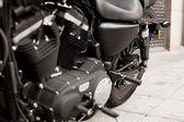 Detail schwarz motorrad — Stockfoto