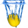 Lemon in Water — Stock Photo