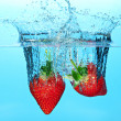 Stock Photo: Strawberries in Water