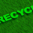 Recycle word over green grass - Stock Photo
