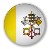Badge with flag of vatican — Stock Photo