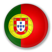 Badge with flag of portugal — Stock Photo