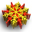 Color snow flake — Stock Photo #7022800