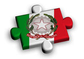 Color puzzle piece with flag of italy — Stock Photo