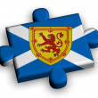 Color puzzle piece with flag of scotland — Stock Photo