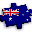 Color puzzle piece with flag of australia — Stock Photo
