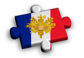 Color puzzle piece with flag of france — Stock Photo