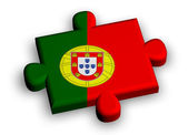 Color puzzle piece with flag of portugal — Stock Photo