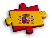 Color puzzle piece with flag of spain — Stock Photo