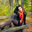 Young woman in autumn park — Stock Photo #6890827