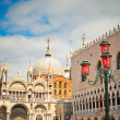 San Marko cathedral and doge palace - Stock Photo