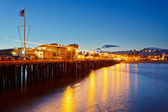 Pier in Santa Barbara at night — Stock Photo