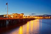 Molo w santa barbara w nocy — Zdjęcie stockowe