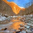Mountain river in Alps - ストック写真