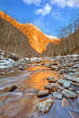 Mountain river in Alps — Stock Photo