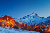 Ski resort in Alps — Foto Stock