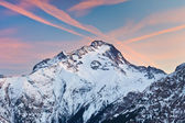 Alpine peak at sunset — Stock Photo