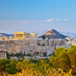 View on Acropolis in Athens — Stock Photo