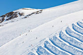 горнолыжные склоны в французских альпах — Стоковое фото