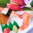 Stock Photo: Sashimi and Sushi