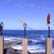 Sculptures By the Sea — Stock Photo