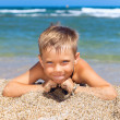 Boy on the beach — Stock Photo
