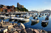 Lerici typical village, Castle and port in Liguria, Italy — Stock Photo