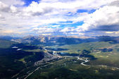 Jasper seen from Mount Whistlers — Stock Photo