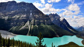 Peyto Lake in Rocky Mountains Canada — Stock Photo