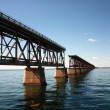 Stock Photo: Interrupted rail bridge to key west