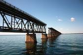 Avbrutna järnvägsbro till key west — Stockfoto