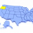 3D map of United States - State Oregon — Stock Photo #6952727