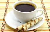 Coffee cup with cookies — Stock Photo