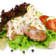 Raw chicken legs with vegetables — Foto Stock