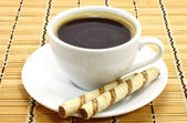 Cup of coffee with cookies — Stock Photo
