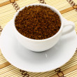Cup of ground coffee — 图库照片