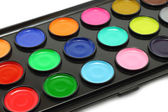 Watercolour paints — Stok fotoğraf