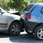 Two crashed cars — Stock Photo