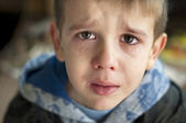 Sad child who is crying — Stock Photo
