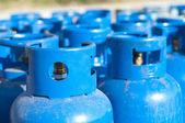 Blue gas balloons — Stock Photo