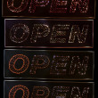 Light text Open — 图库照片